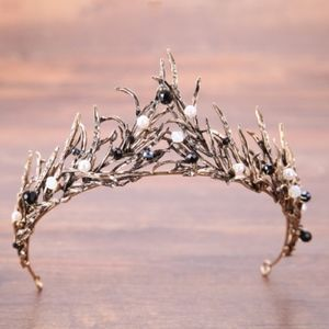 Bronze Crystal Metal Tiara Crown